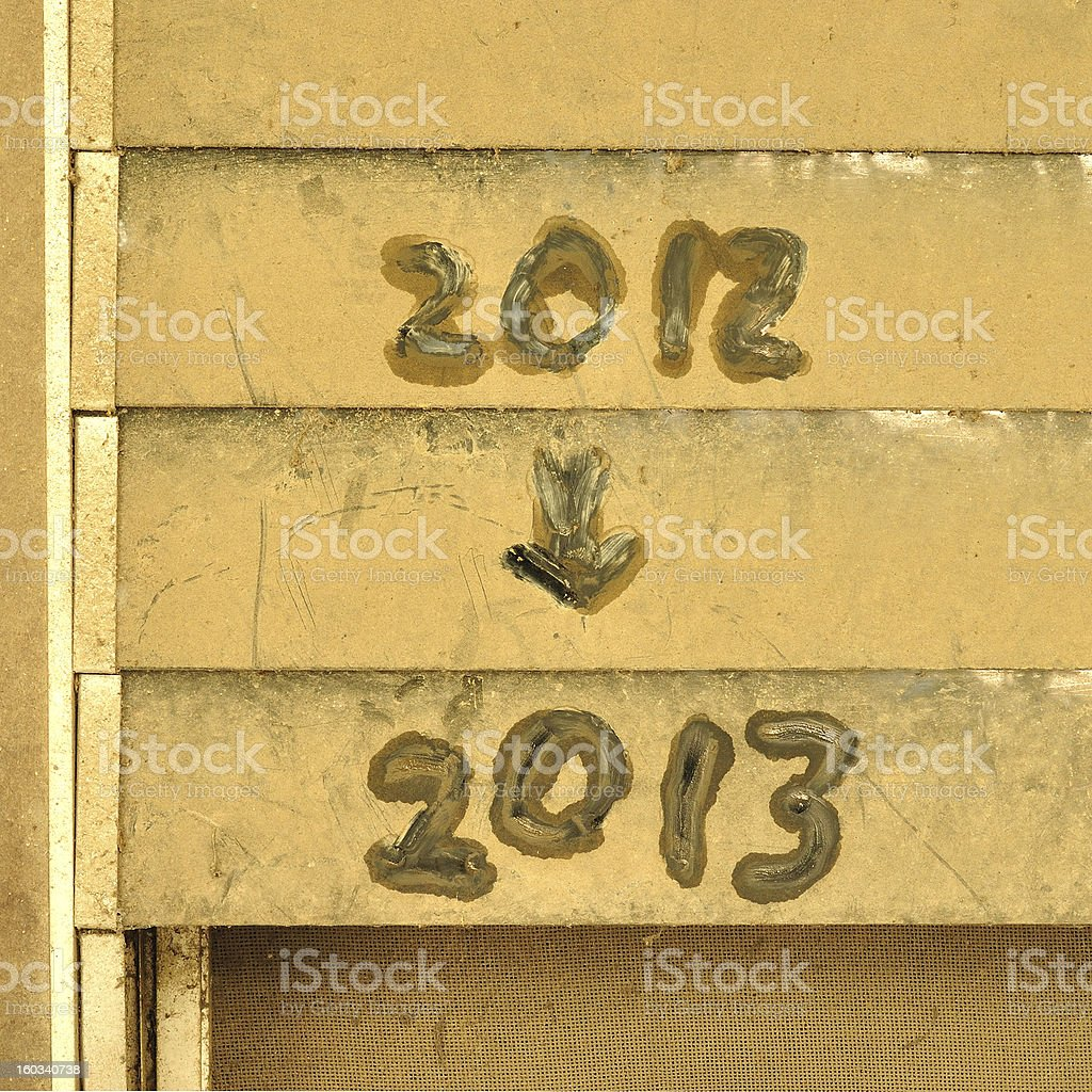 text of 2012 to 2013 royalty-free stock photo