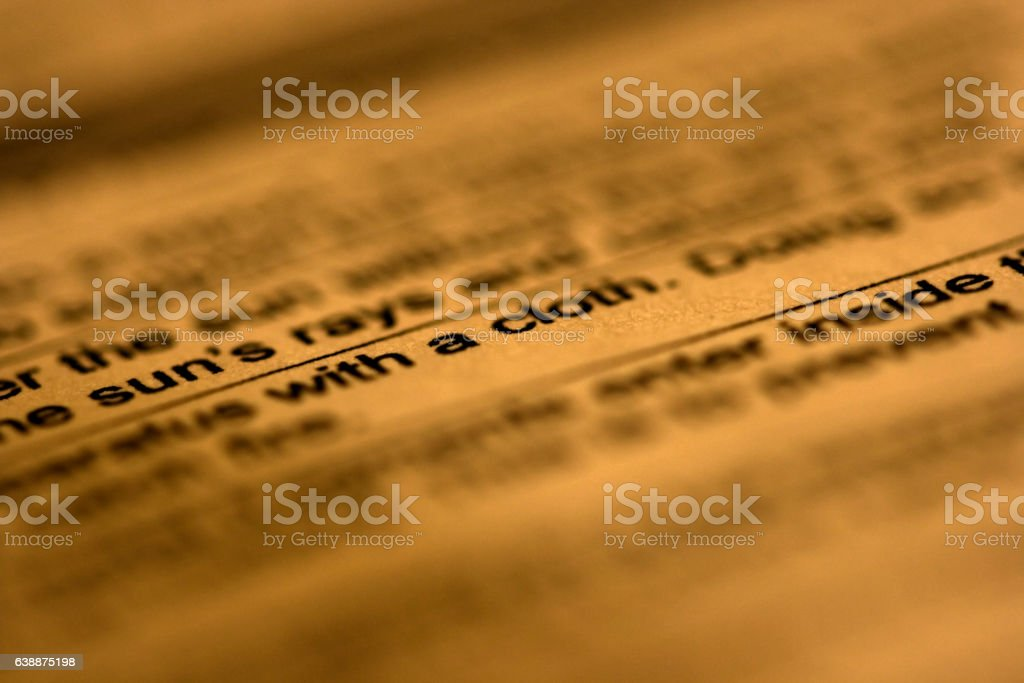 Text on paper stock photo
