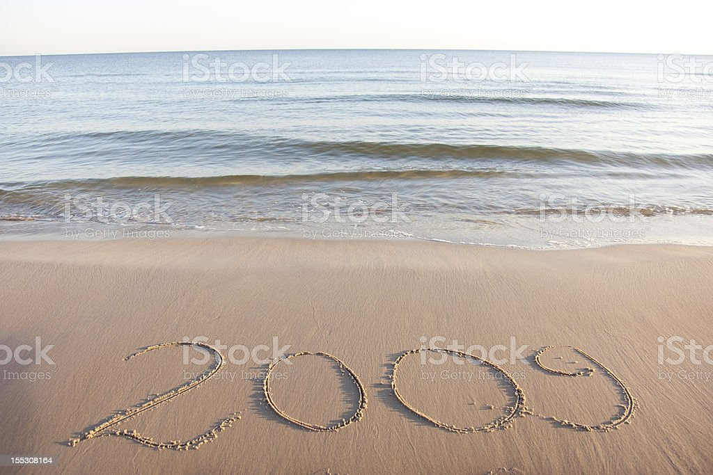 Text on sand royalty-free stock photo