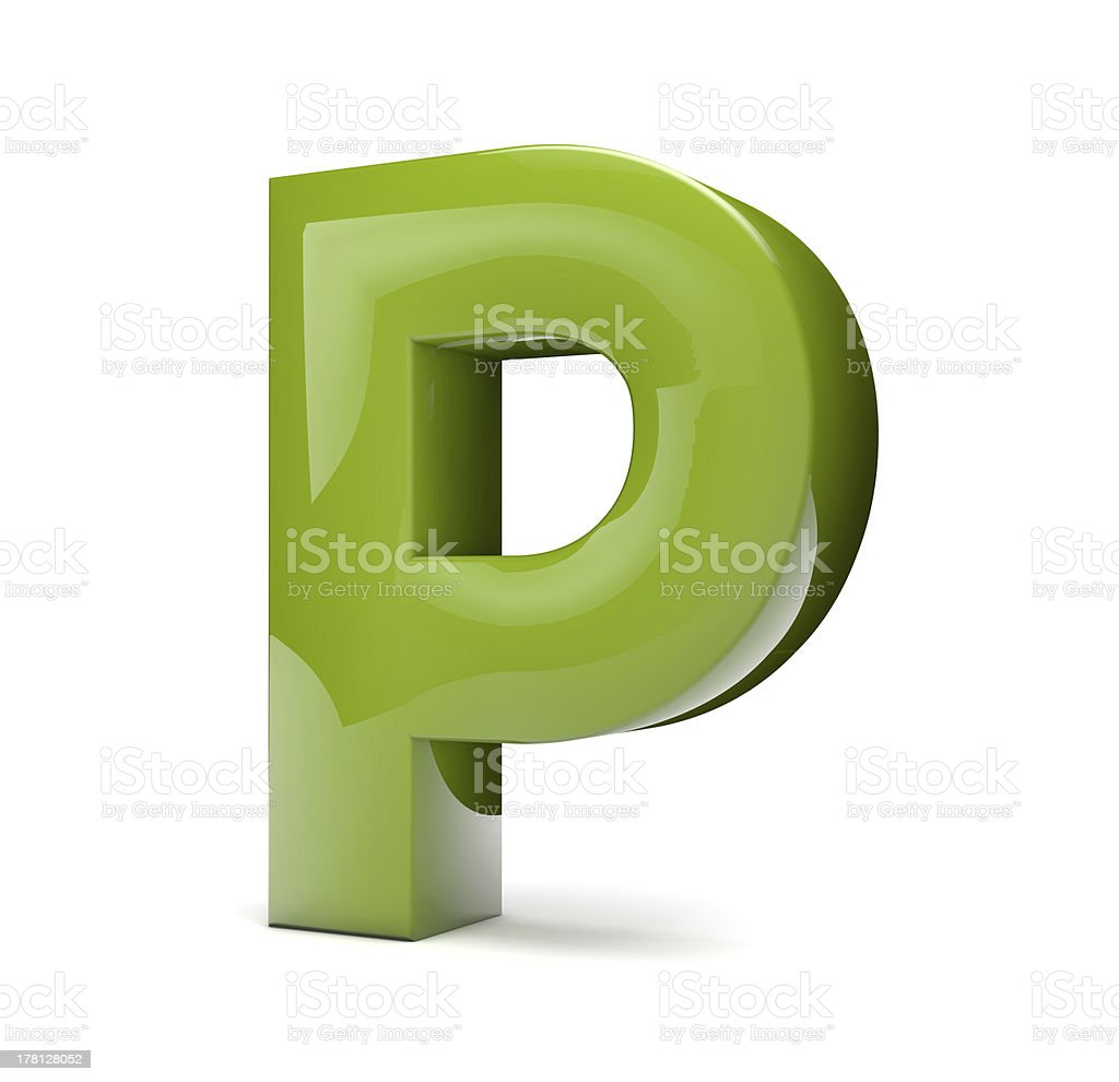 text P royalty-free stock photo