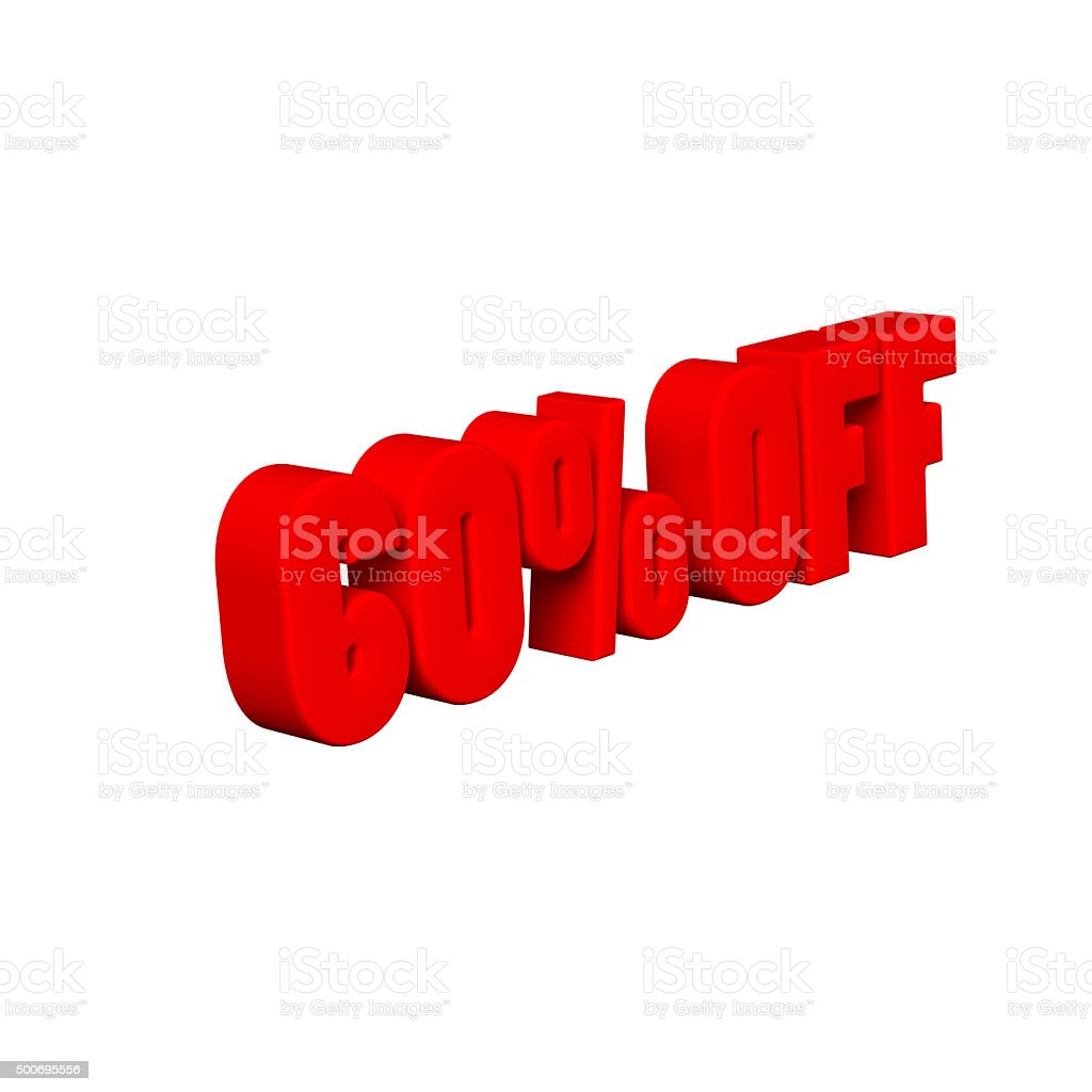 60 % OFF 3D Text stock photo