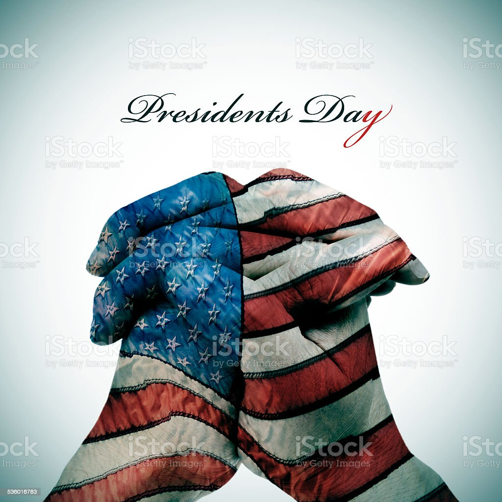 text Presidents Day stock photo