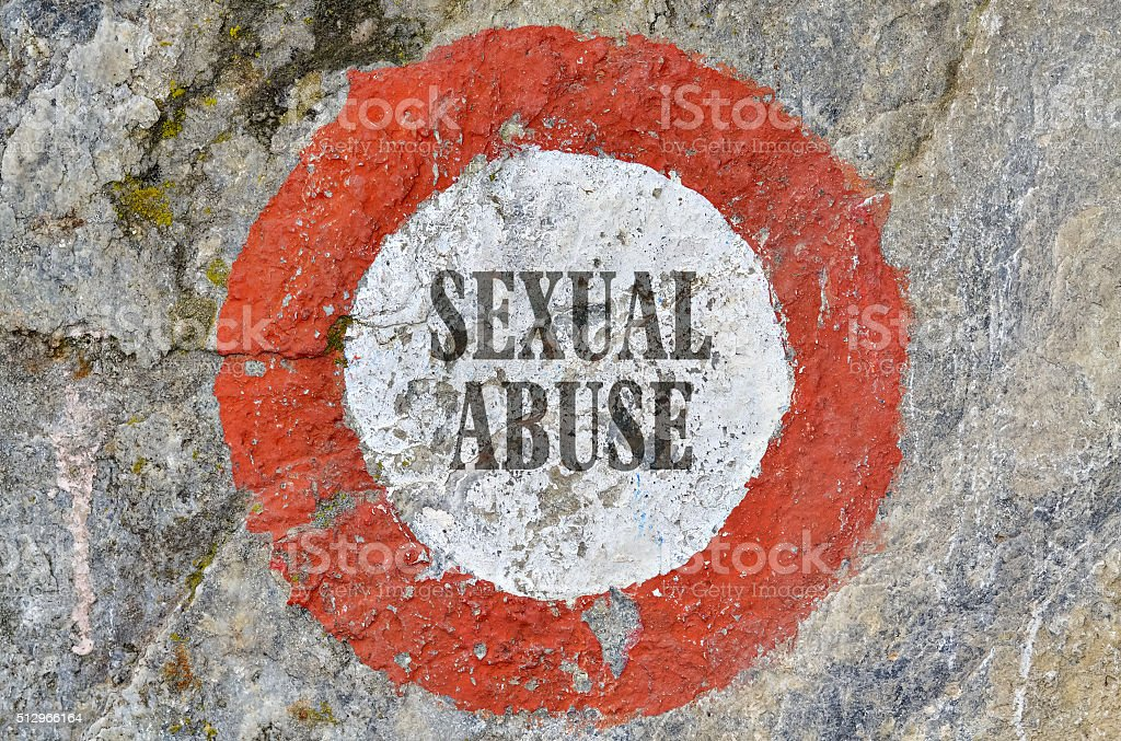 Text Sexual Abuse stock photo