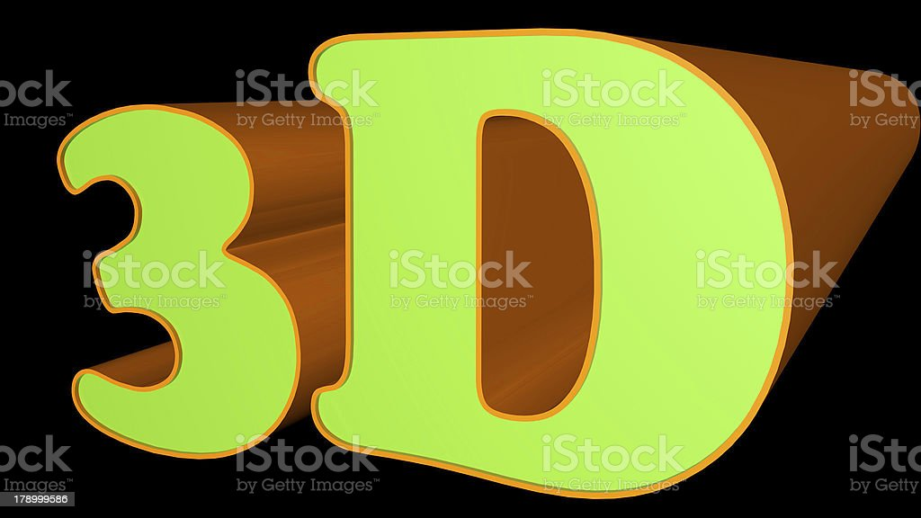3D text sign royalty-free stock photo