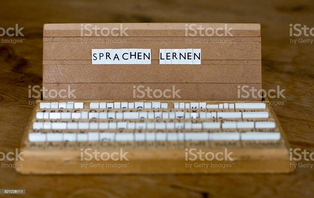 Text: 'Sprachen lernen' stock photo