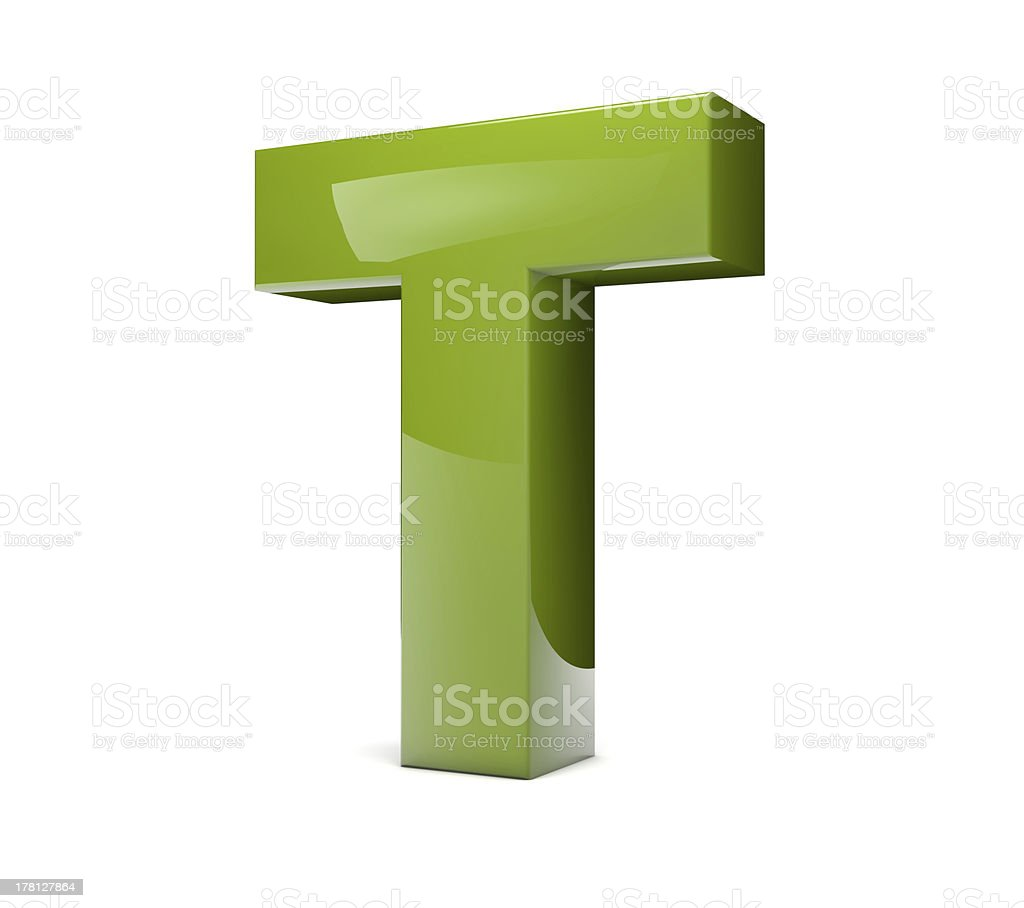 text T royalty-free stock photo