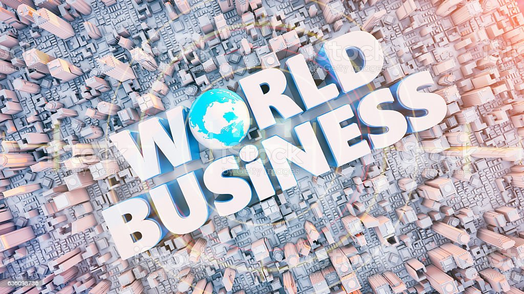 Text the word Business lot at the center. stock photo