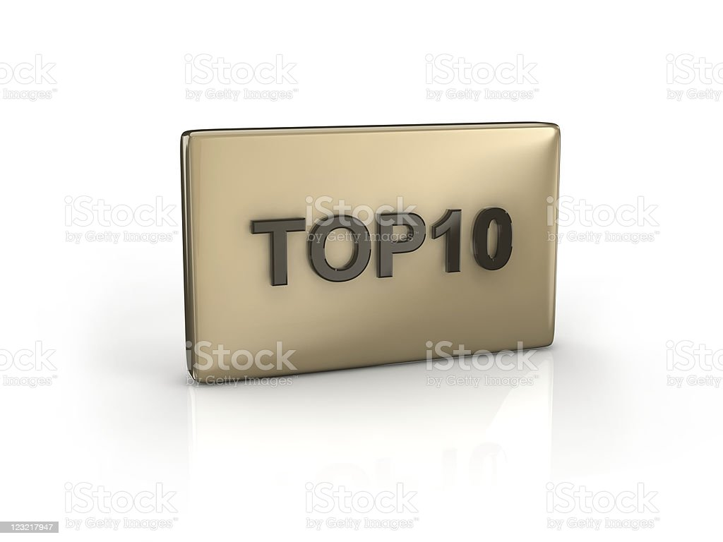 text TOP10 royalty-free stock photo