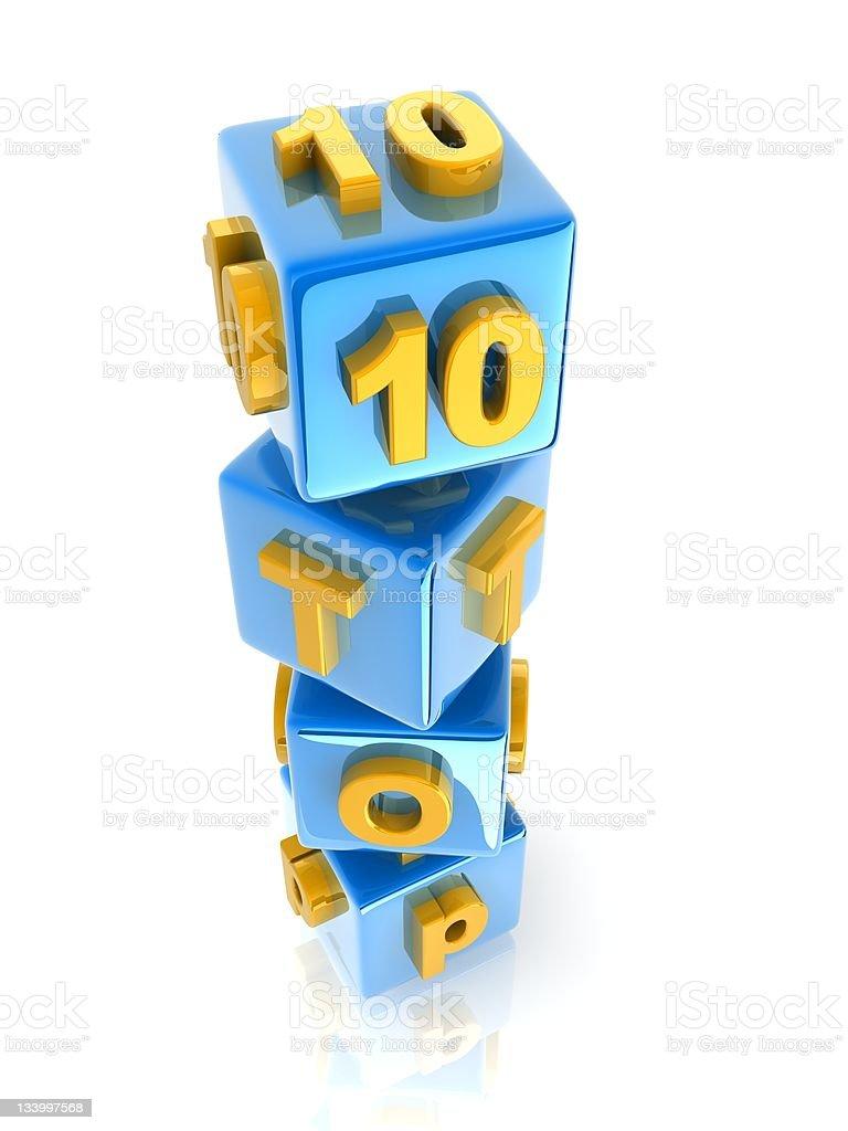 text 'TOP10' stock photo