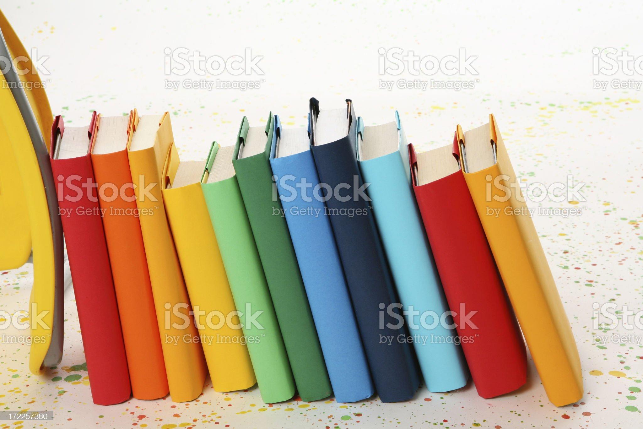 Textbooks royalty-free stock photo