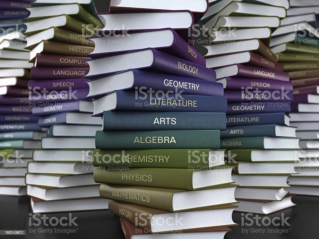 Textbooks royalty-free stock photo