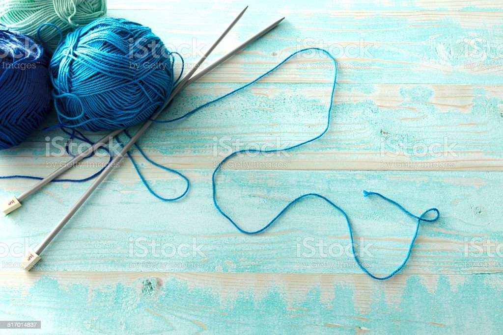 Textile: Blue Wool stock photo
