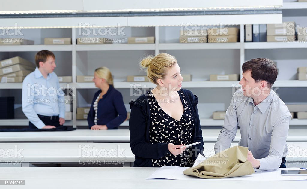 Textile business employees royalty-free stock photo
