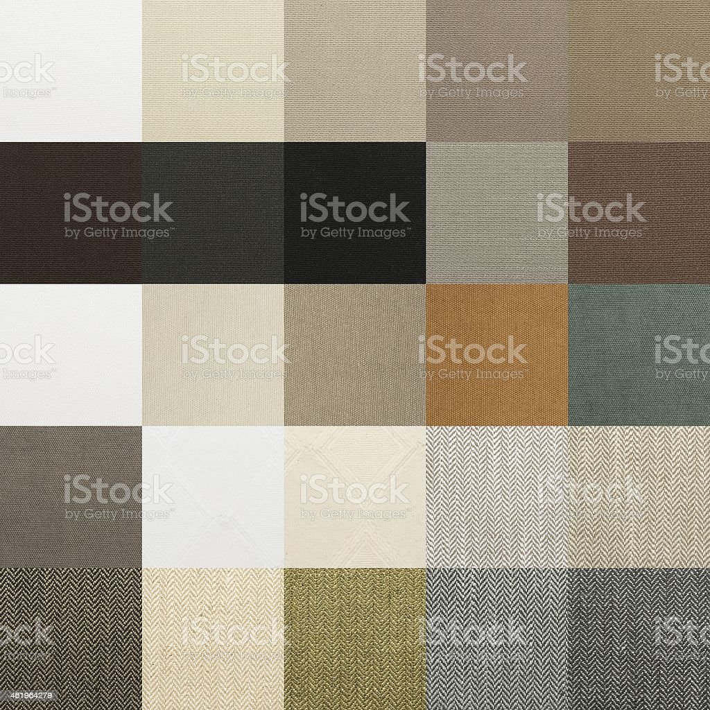 Textile chart with many color samples stock photo