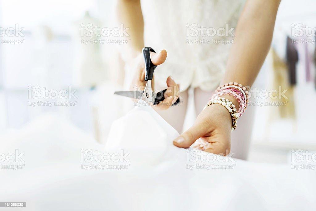 Textile cutting. stock photo