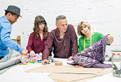 Textile designers at work