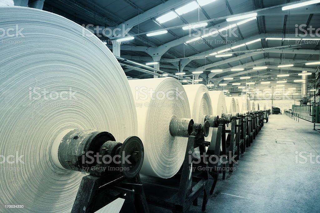 Textile Factory stock photo