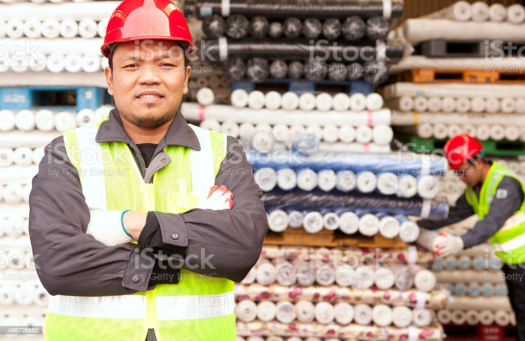 Textile Fabrik Arbeiter Lizenzfreies stock-foto
