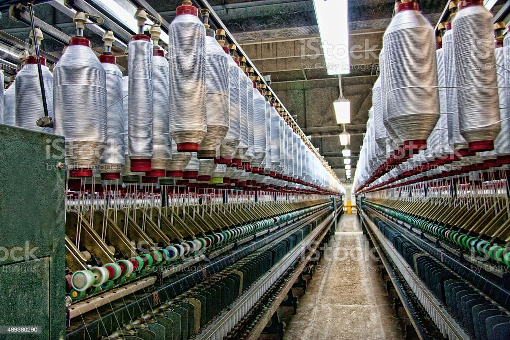 Textile Industry - Spinning stock photo