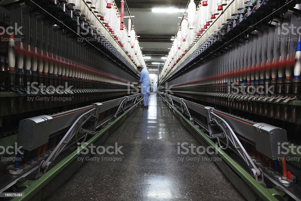 Textile Industry - Spinning, Yarn Production XXXL royalty-free stock photo