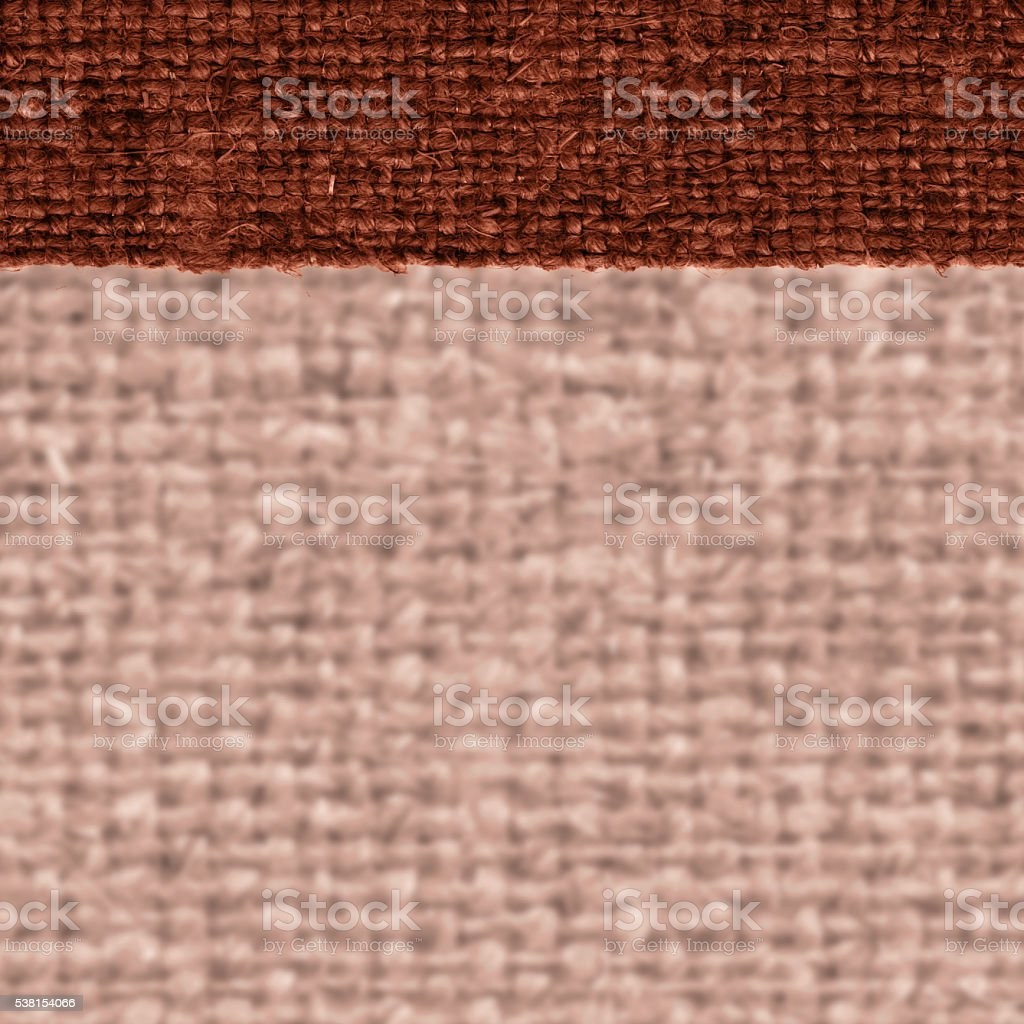 Textile linen, fabric style, cinnamon canvas, styled material, flat background stock photo