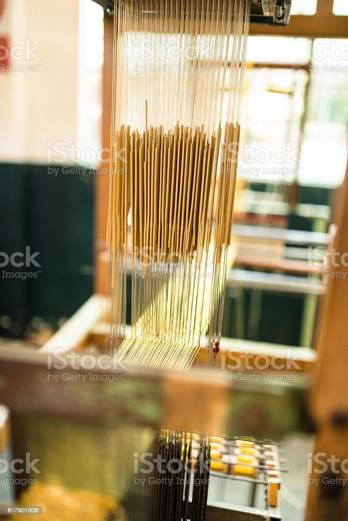 textile loom stock photo
