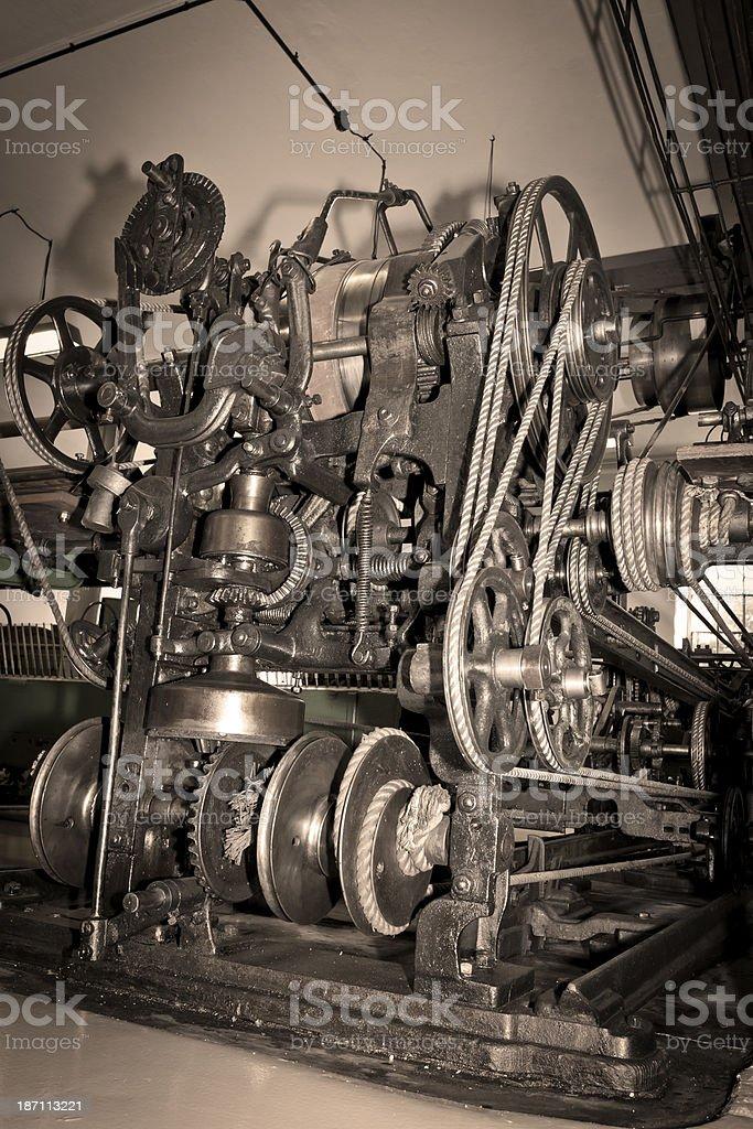 Textile machine detail royalty-free stock photo