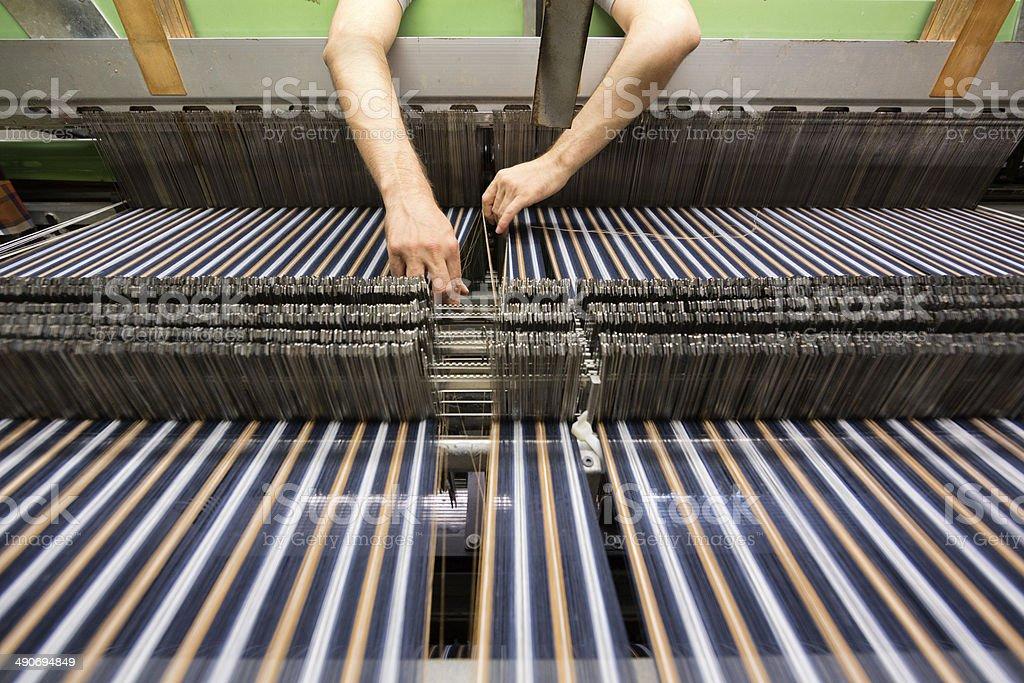 Textile Machinery stock photo