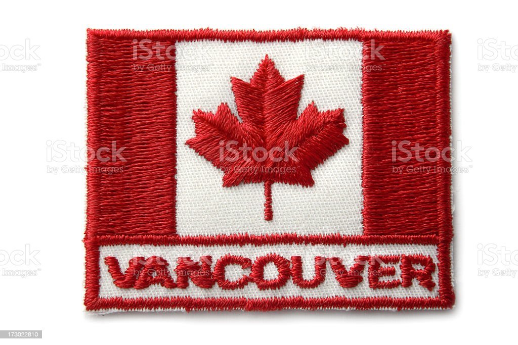 Textile: Patch Vancouver royalty-free stock photo