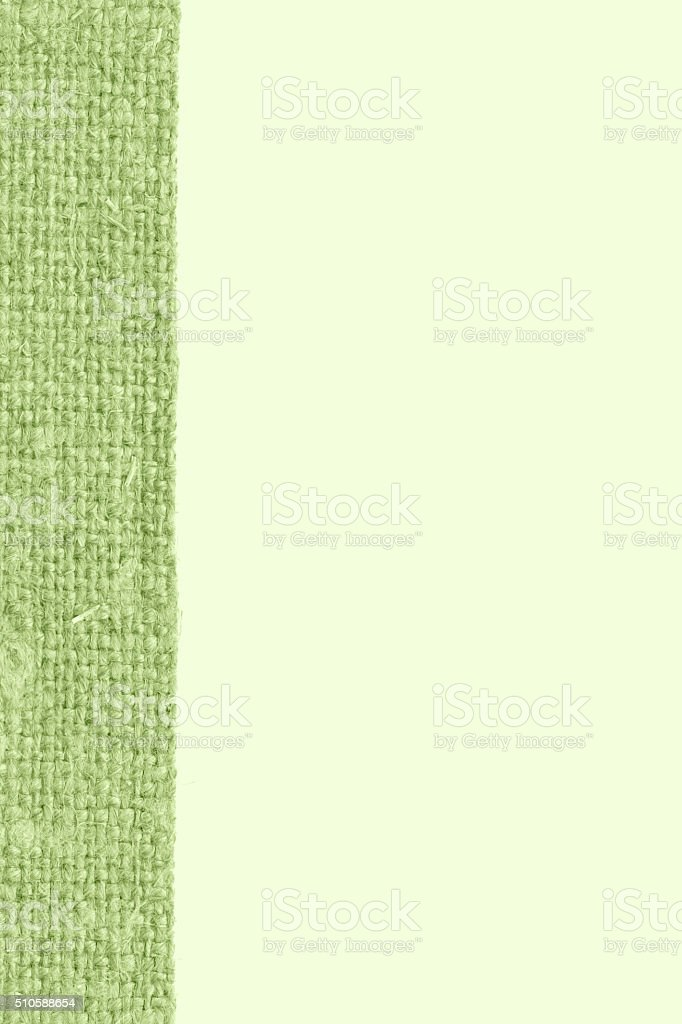 Textile pattern, fabric string, olive canvas, fiber material, abstract background stock photo