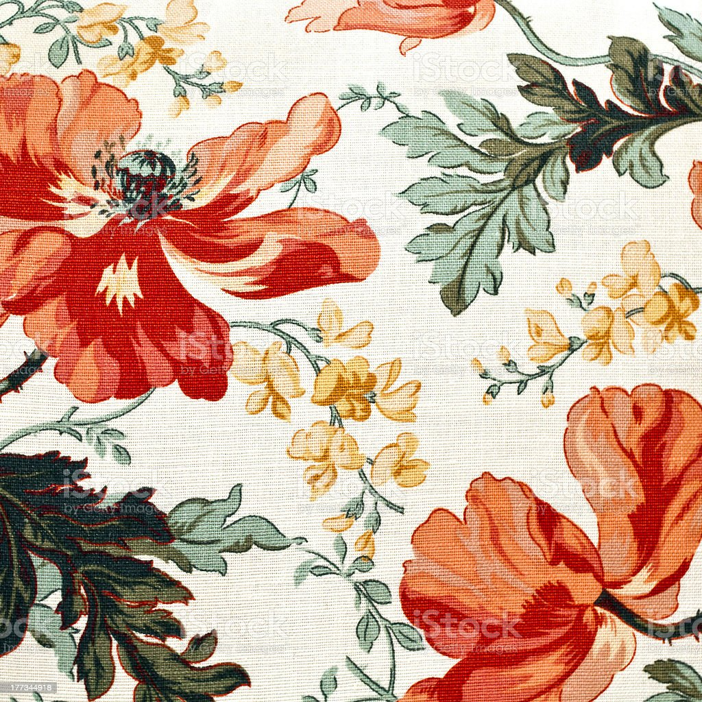 textile pattern with floral ornament stock photo