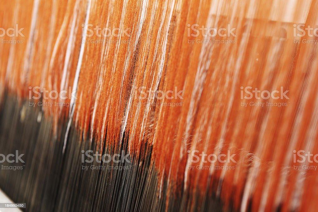 Textile Production - Pattern Making stock photo