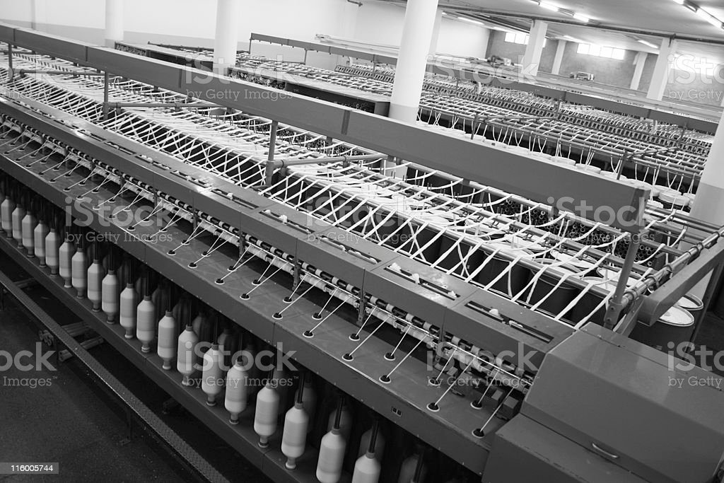 Textile Production - Spinning royalty-free stock photo