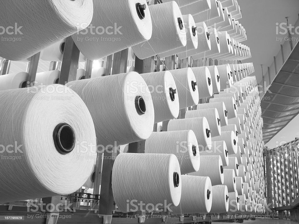 Textile Production - Weaving royalty-free stock photo