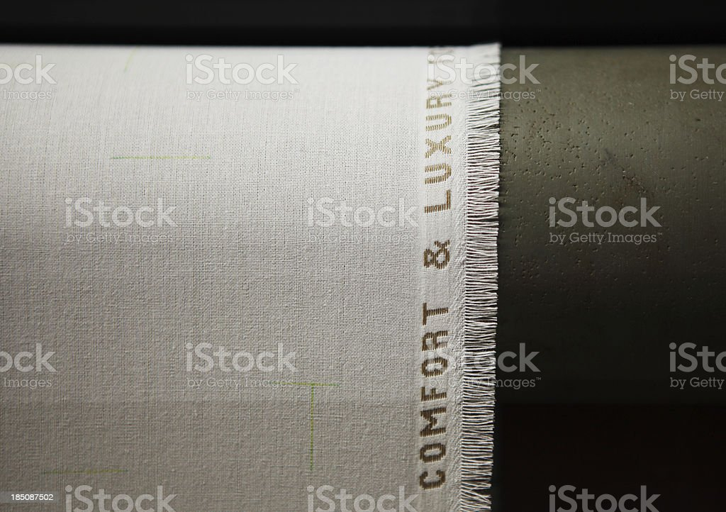 Textile Production - Weaving Suiting Fabric royalty-free stock photo