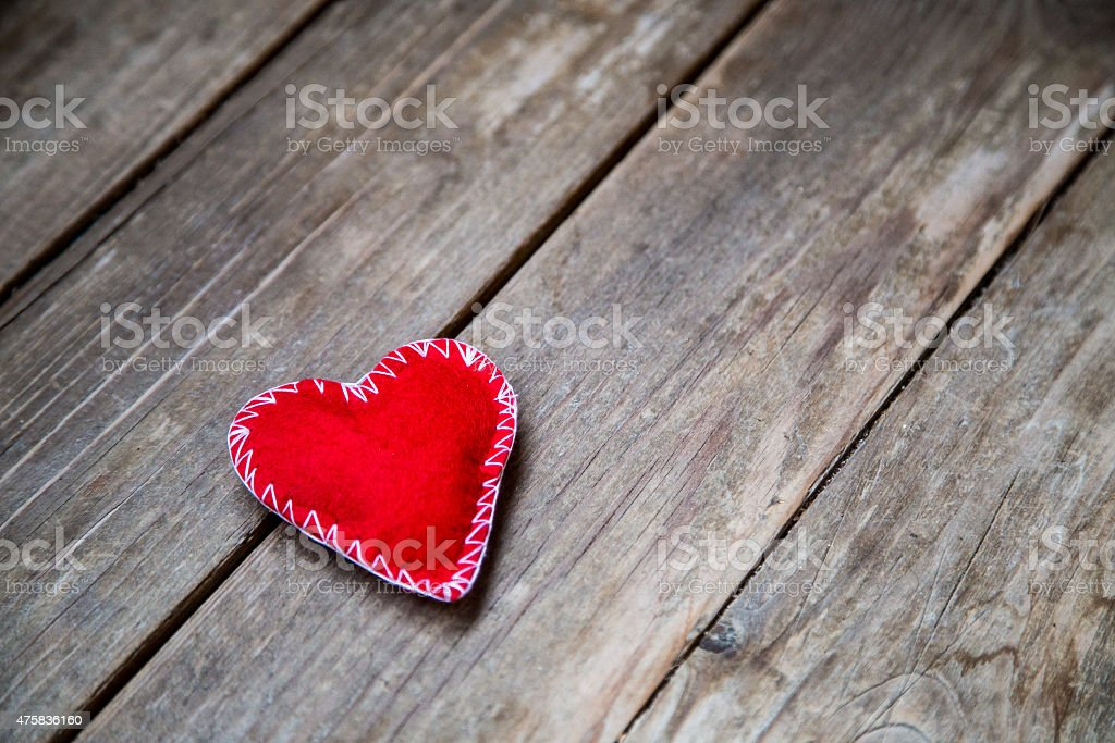 textile red heart stock photo