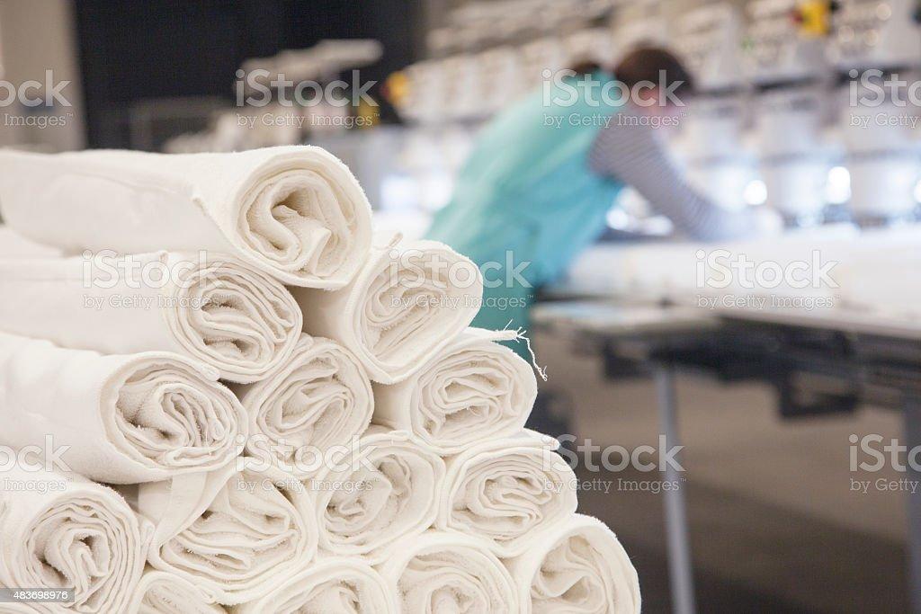 Textile Rolls stock photo