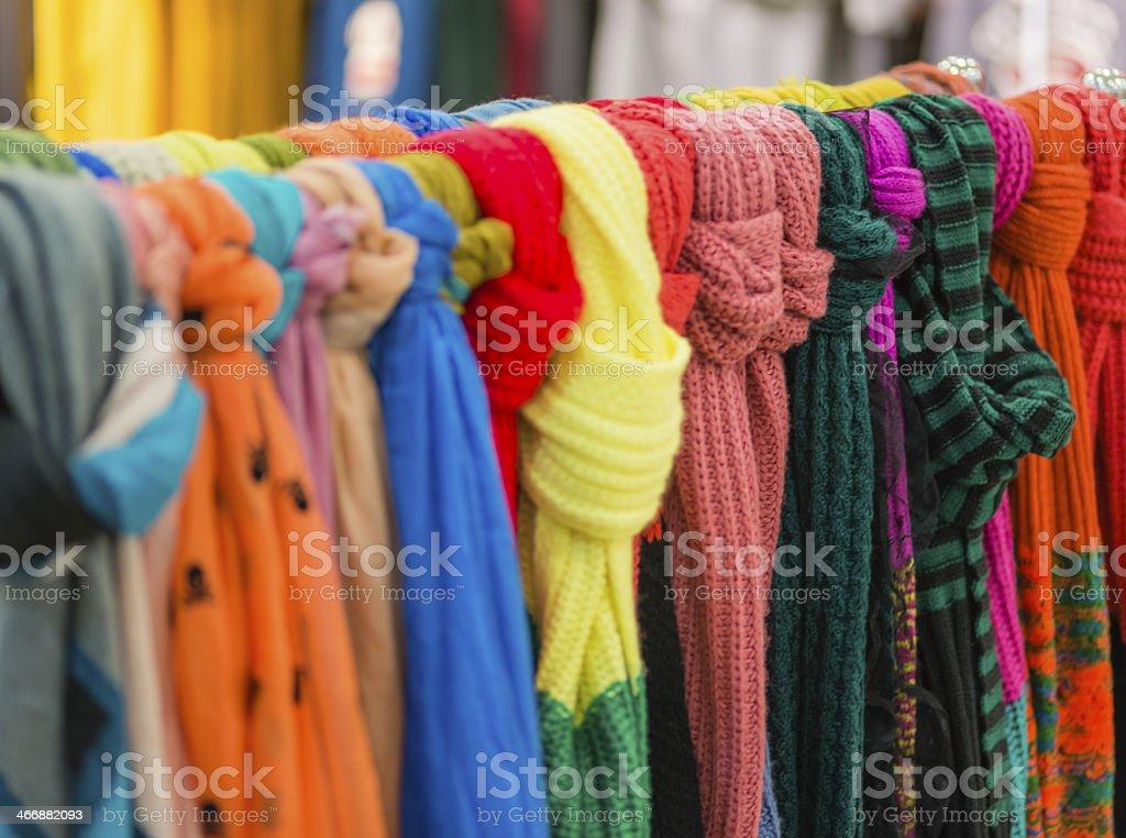Textile Scarf royalty-free stock photo