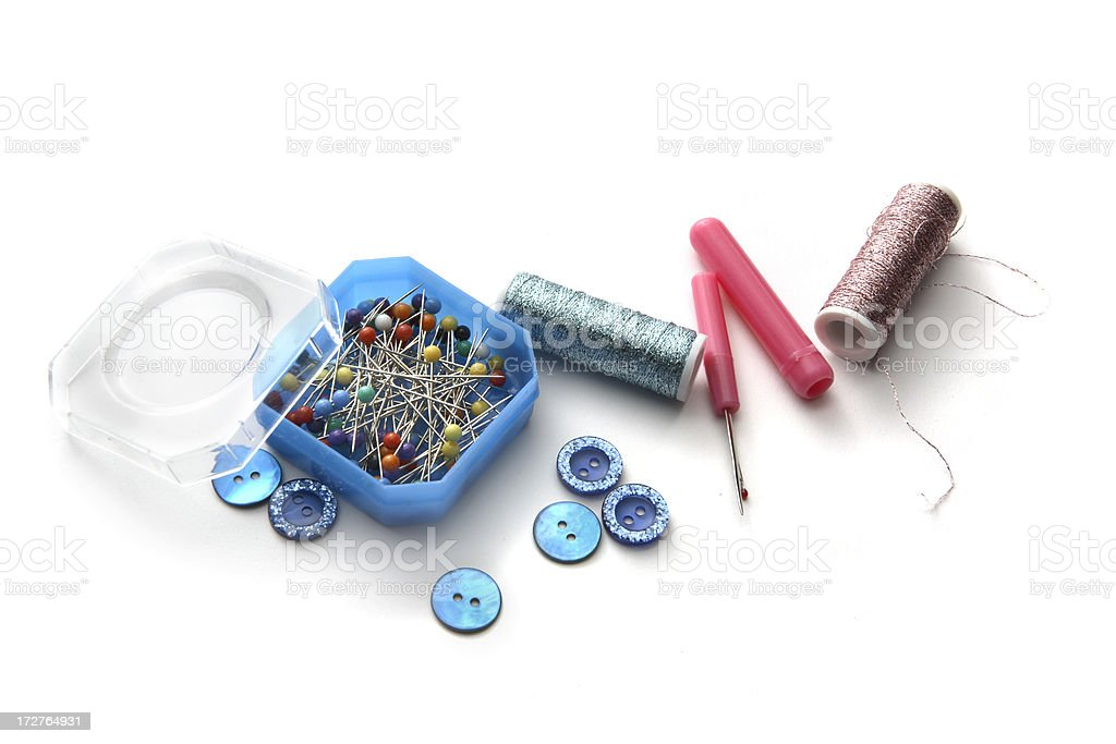 Textile: Sewing Items royalty-free stock photo