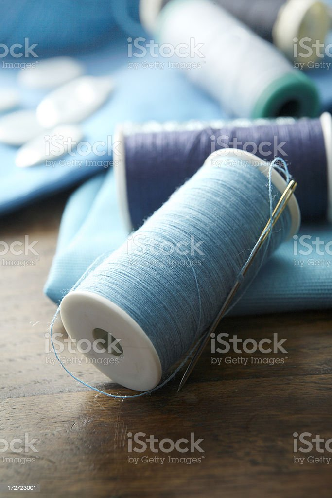 Textile: Spools of Thread royalty-free stock photo