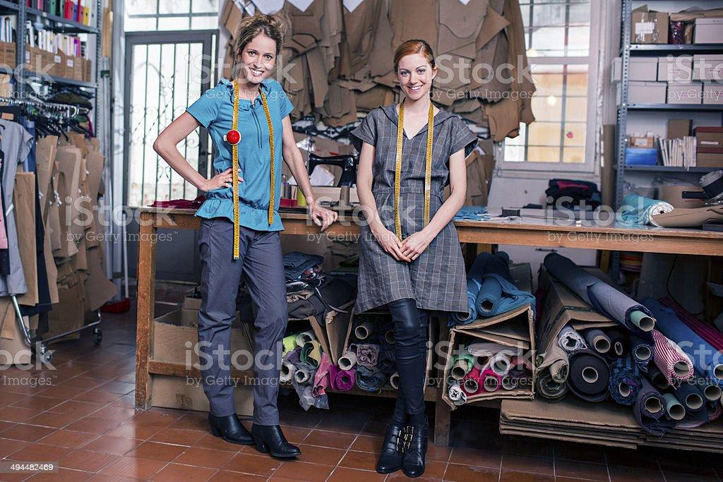 Textile teamwork stock photo