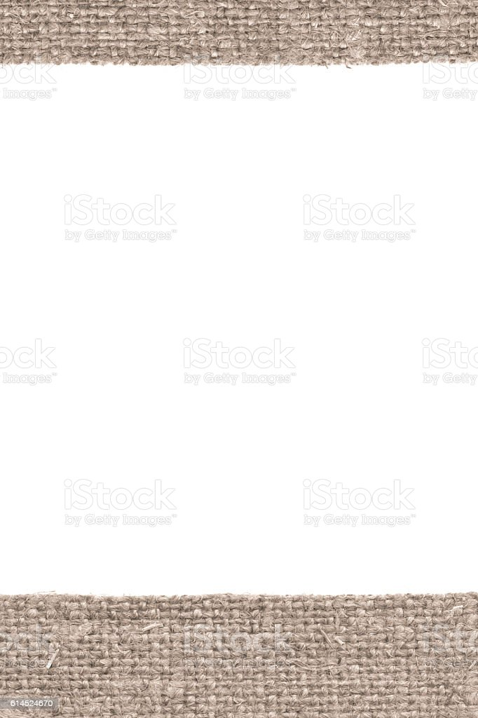 Textile texture, fabric exterior, beige canvas, rag material, close-up stock photo