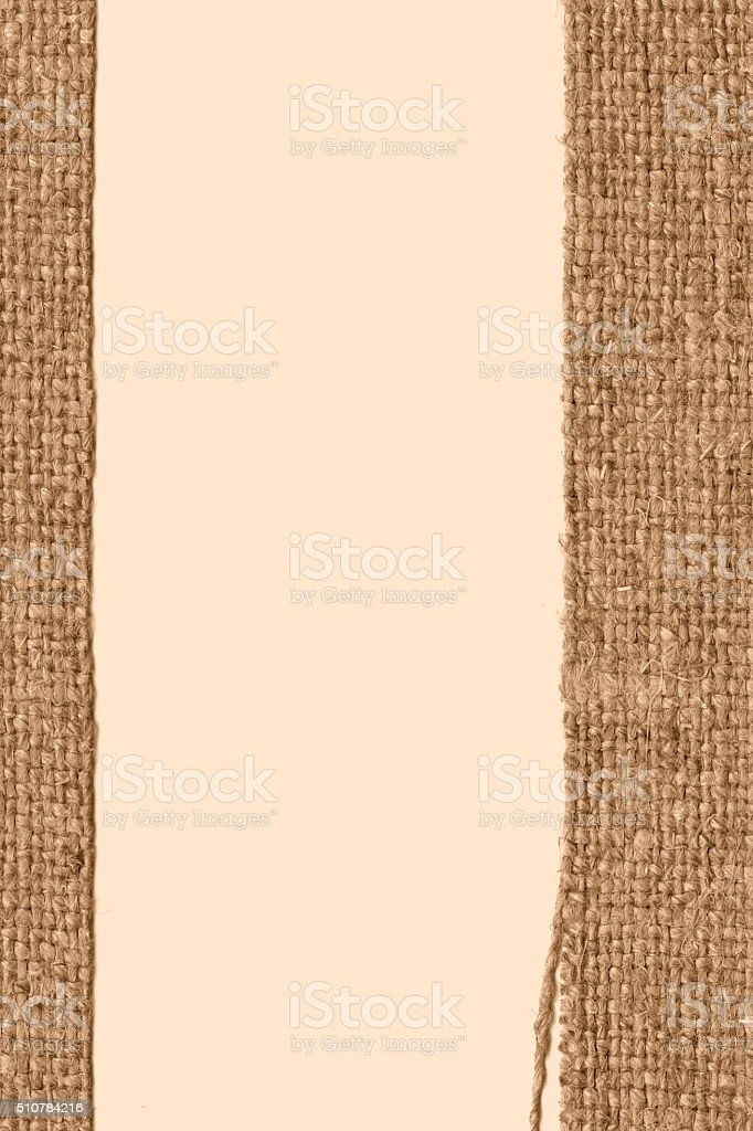 Textile texture, fabric style, fawn canvas, threaded material, old-fashioned background stock photo