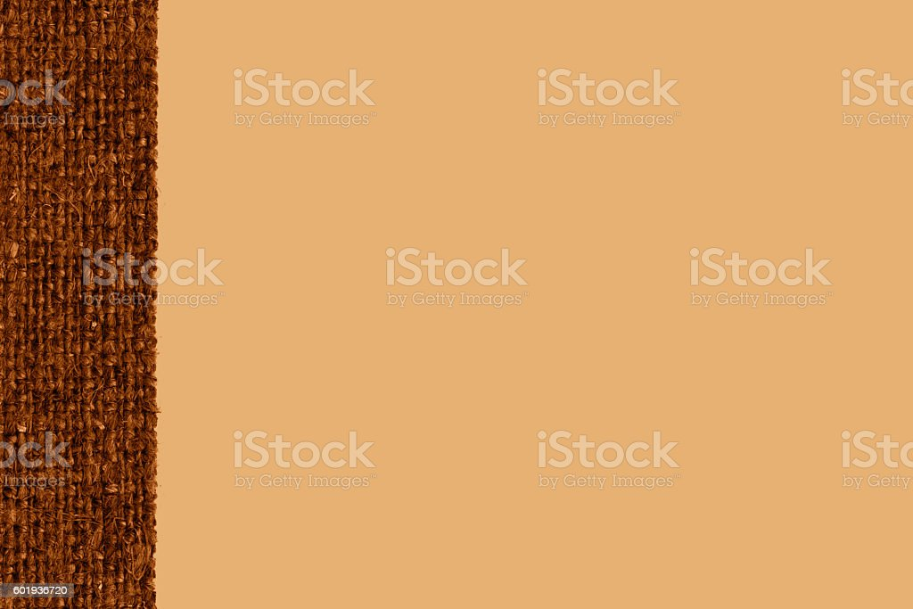 Textile tissue, fabric style, camel canvas, grained material, rough background stock photo