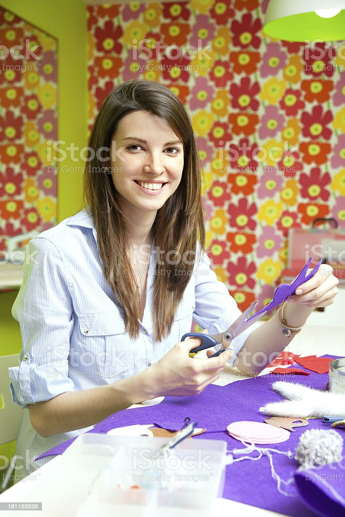 Textile workshop royalty-free stock photo