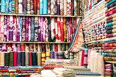 Textiles In Bazaar, IRAN