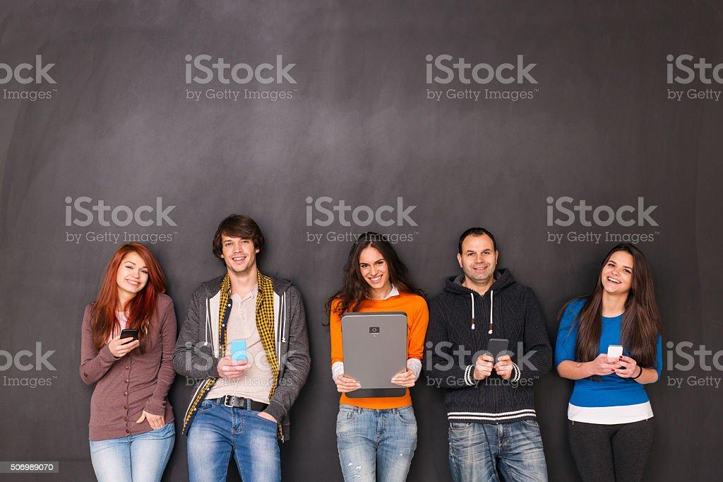 Texting BIG stock photo