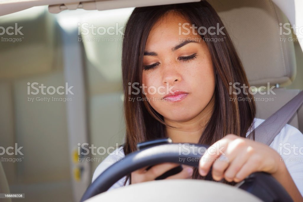 Texting Driver stock photo