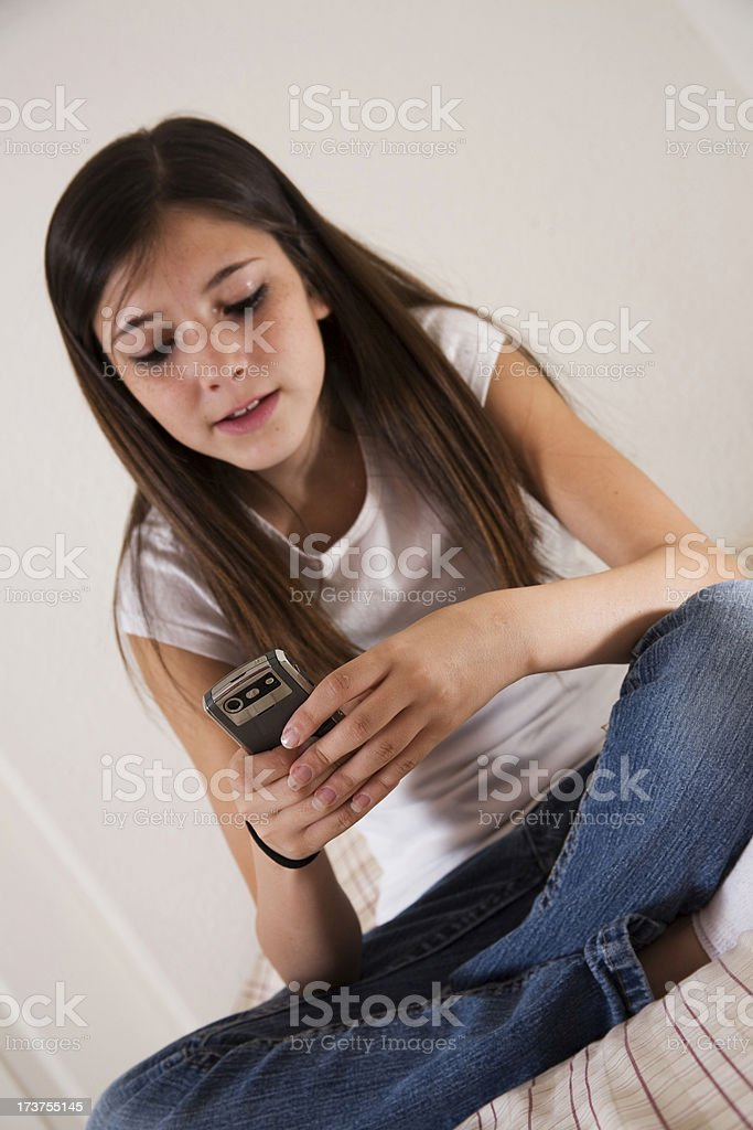 Texting royalty-free stock photo