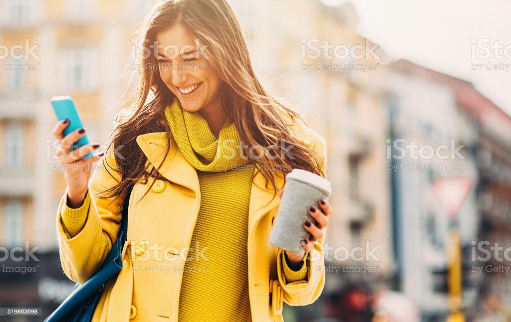 Texting stock photo
